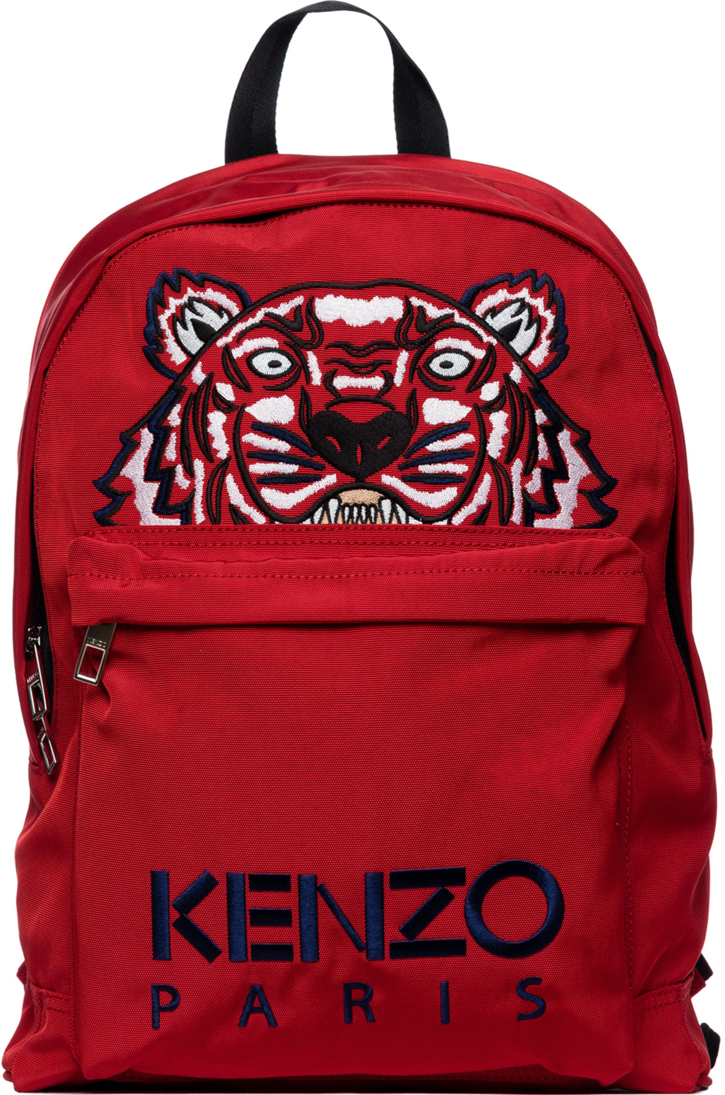 61caed28 Kenzo: Large Tiger Canvas Backpack - Medium Red | Influence U