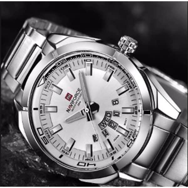 614dac038e NAVIFORCE Brand Men Watches Luxury Sport Quartz 30M Waterproof Watches  Men's Stainless Steel Auto Date Wristwatches ...