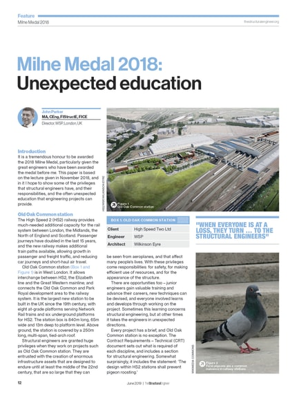 Milne Medal 2018: Unexpected education - The Institution of