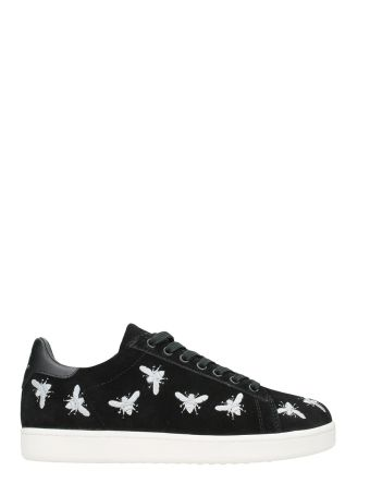 M.O.A. master of arts Multi Icon Suede Black Leather Sneakers