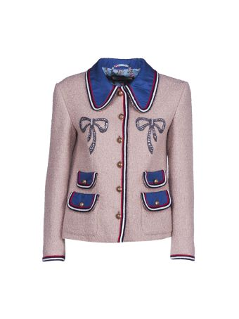 Gucci Crystal Embellished Jacket