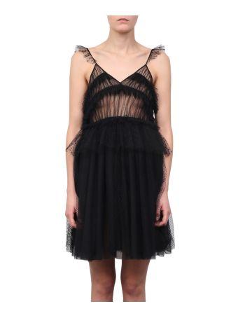 MSGM Lace Ruffled Dress