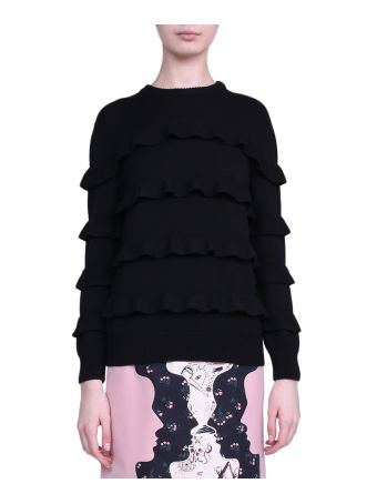 Vivetta Ruffled Wool Sweater