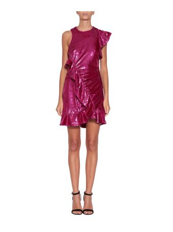 self-portrait Metallic Velvet Dress