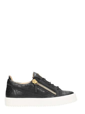 Giuseppe Zanotti Kriss Black Leather Sneakers