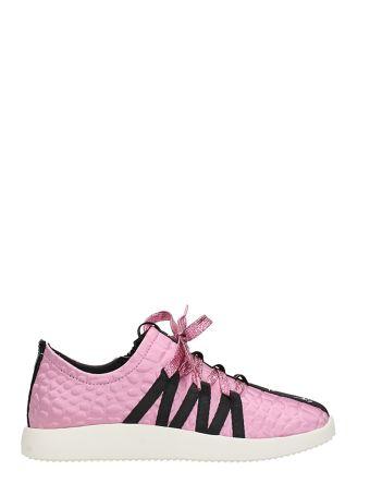 Giuseppe Zanotti Pink Black Fabbric Blend Sneakers