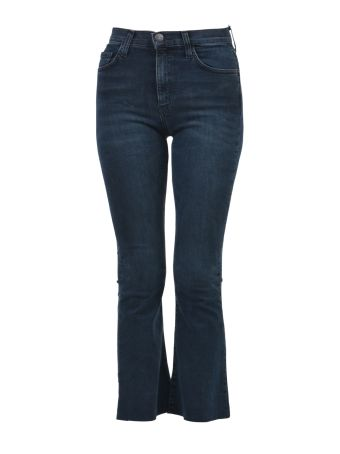 Current/Elliott Flare Crop Denim Jeans