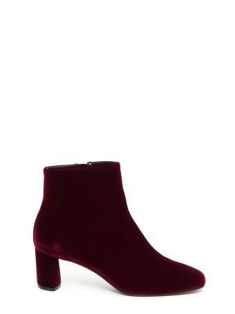 Casadei Velvet Ankle Booties
