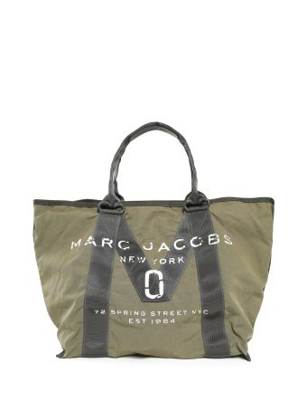 Marc Jacobs Logo Nylon And Cotton Tote Bag