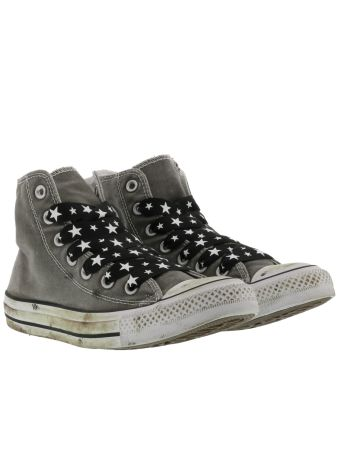 Converse Chuck Taylor Sneakers Distressed Stars Laces