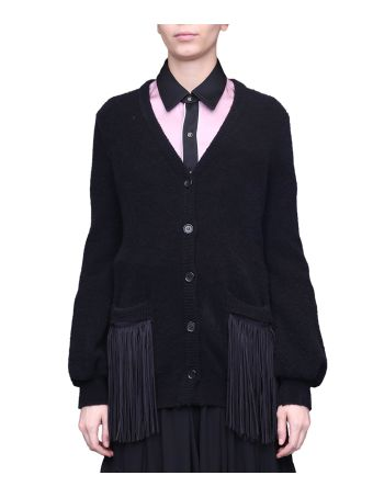 WANDERING Fringed Wool Cardigan