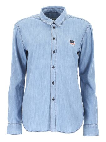 Denim Shirt With Tiger