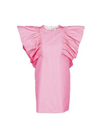 Msgm Flared Shoulder Dress