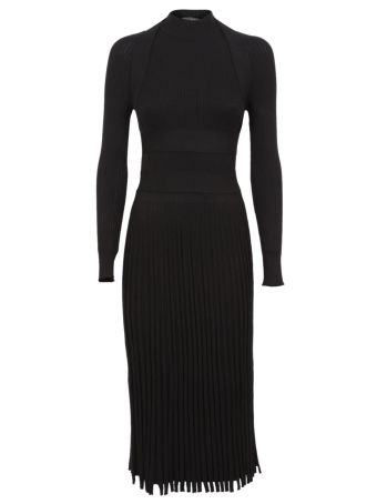 Cédric Charlier Rib-knit Fitted Midi Dress