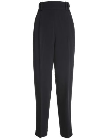 3.1 Phillip Lim High-waist Button-side Crepe Trousers