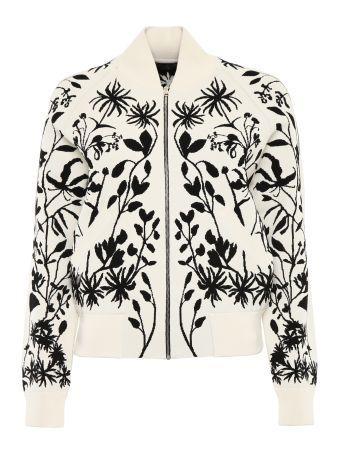 Botanical Knit Bomber Jacket