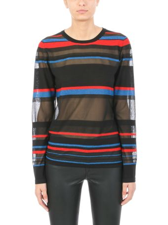 Diane Von Furstenberg Fitted Stripes Sweater