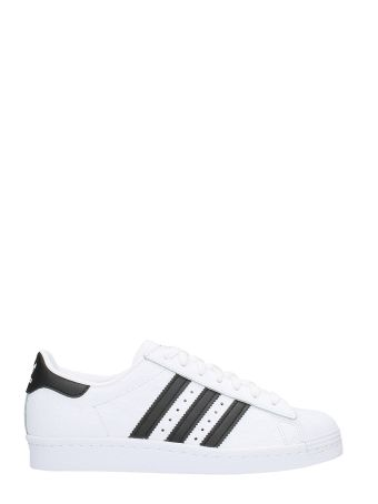 Adidas Superstar 80 S W  White Leather Sneakers