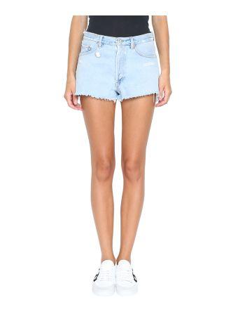 Off-White Denim Cotton Shorts