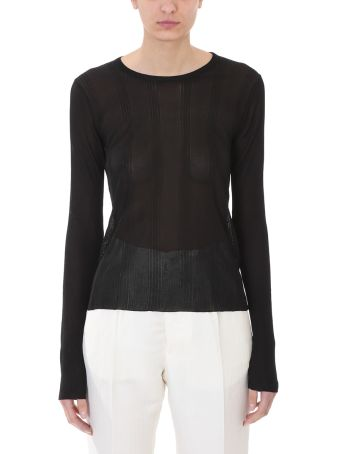 Maison Margiela Black Viscose Sweater