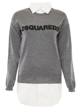 Wool Pullover With Embroidered Logo
