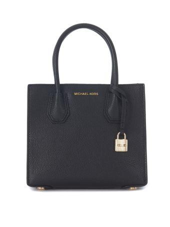 Michael Kors Handbag Model Mercer Messenger In Black Tumbled Leather