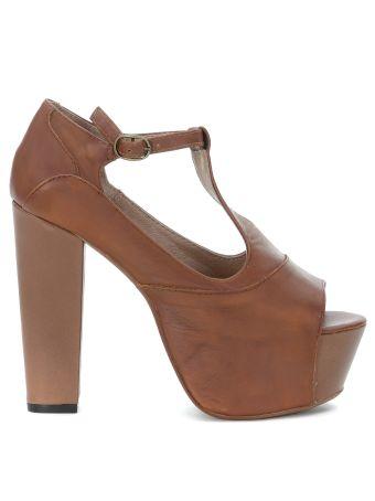 Jeffrey Campbell Foxy Brown Leather Sandal