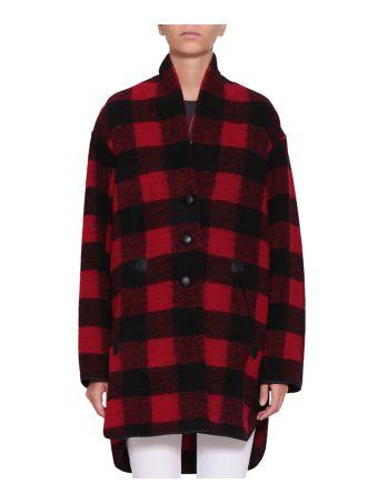 Isabel Marant Etoile Gino Oversized Checked Wool Coat