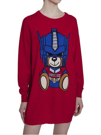Moschino Transformer Bear Sweater Dress