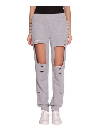 Forte Couture Destroyed Cotton Track Pants