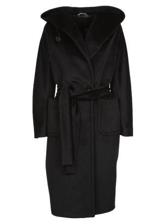 Tagliatore Oversized Belted Coat