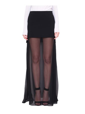 Givenchy See Through Panelled Skirt