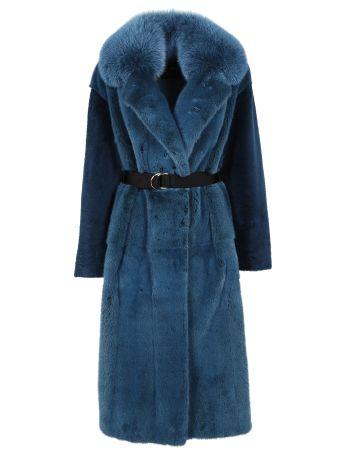 Blancha Felted Fox Coat