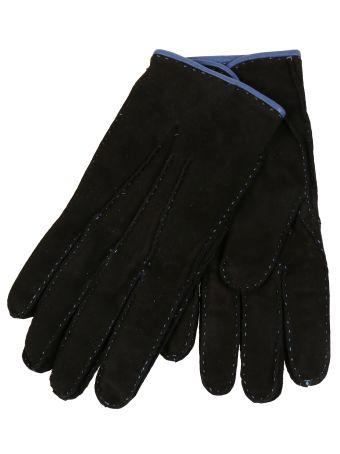 Restelli Suede Hand-Stitched Gloves