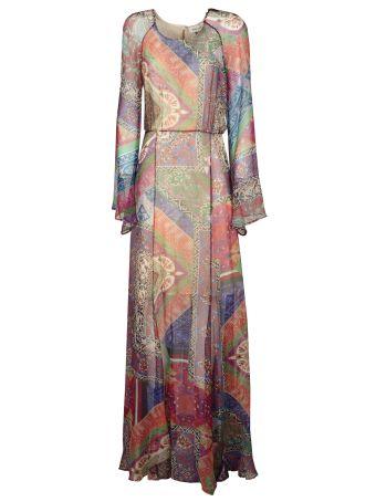 Black Coral Printed Dress
