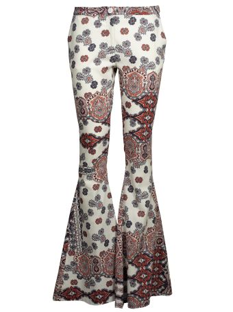 Black Coral Flared Trousers