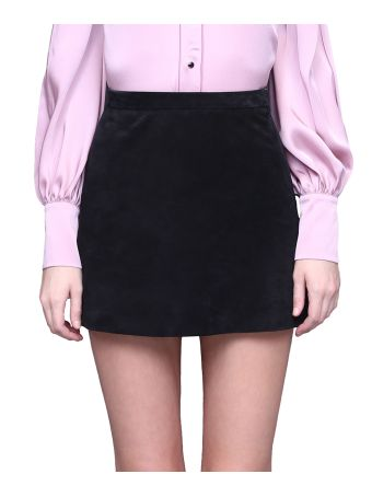 WANDERING Suede Skirt