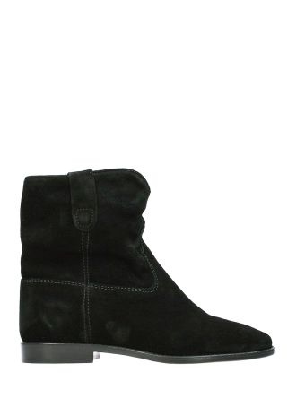 Isabel Marant Crisi Wedge Black Suede Ankle Boots