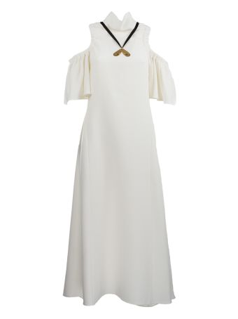 Ellery Deity Rouched Shoulder Dress