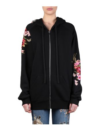 Amen Embroidered Cotton Hoodie