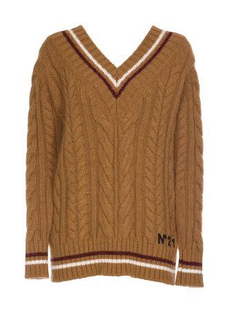 N.21 Nº21 Stripe Detail Sweater