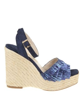 Paloma Barcelo' Sandals Prince Raffia Color Bluette