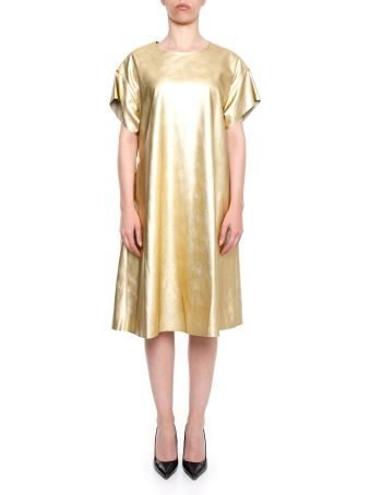 Metallic Faux Leather Dress