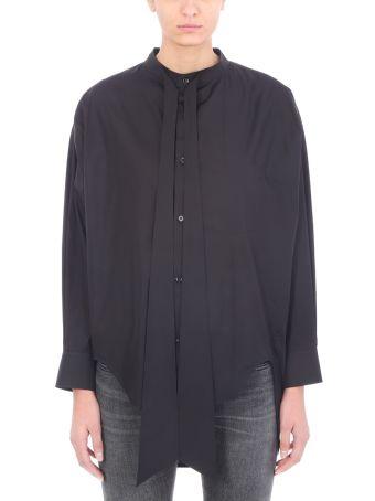 Balenciaga Swing Printed Black Cotton Poplin Shirt