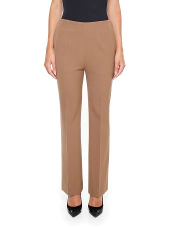 Diagonal Compact Wool Trousers