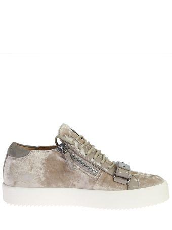 Lowtop Velvet Sneakers