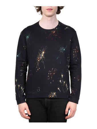 Valentino Fireworks Cotton Sweatshirt
