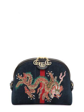 Gucci Embroidered Shoulder Bag