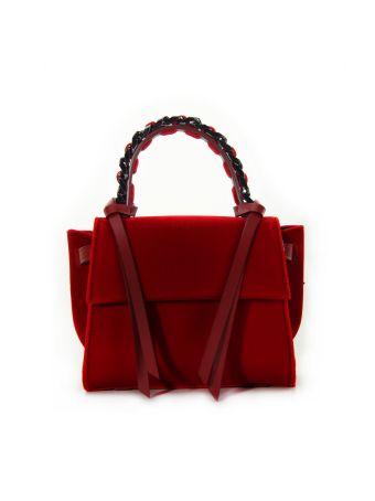 Elena Ghisellini Red Velvet Mini Angel Bag