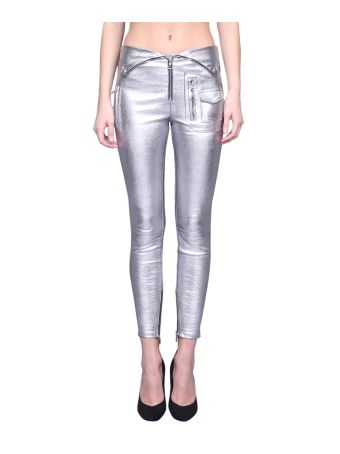 RTA Silver Leather Pants
